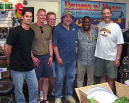 left to right: Brent King, Junior, Ron Hanson, Cheap Trick�s Bun E. Carlos, The Legend Clyde Stubbelfield, Rand Moore